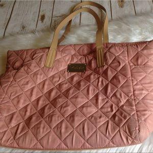 Bebe Pink Plush Purse Multiple Pocket Shoulder Bag